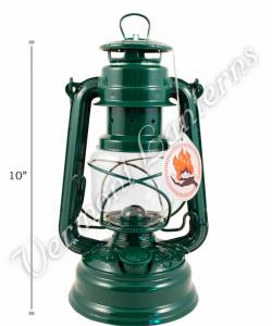 Feuerhand Hurricane Lantern German Made - Green