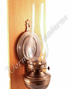 "Wall Lantern - Large Antique Brass ""Mansfield"" 14"""