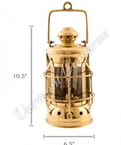 Nautical Lamps Brass Masthead Lantern - 10.5""