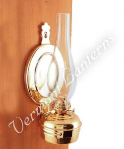 "Oil Lamps - Brass ""Dorset"" Wall Lamp 12"""