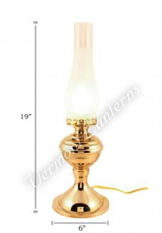 Electric Lantern Brass Table Lamp - 19""