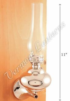 "Chrome Wall Lamps - Nickel Plated Brass ""Sterling"" 11"""