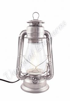 Electric Hurricane Lantern - Galvanized Steel - 12""