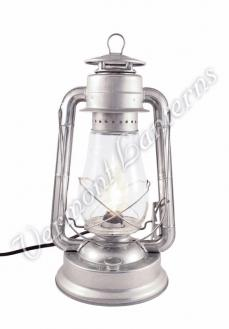 Electric Hurricane Lantern - Galvanized Steel - 15""