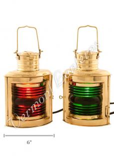Electric Lanterns - Ships Lantern Port & Starboard - 10""