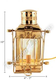 Electric Oil Lamps - Brass Cargo Lamp 10""