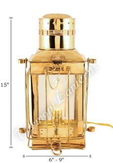 Electric Oil Lamps - Brass Cargo Lamp 15""