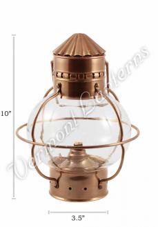 Nautical Oil Lamps - Antique Brass Onion Lantern 10""