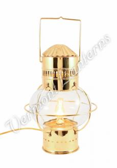 Electric Nautical Lamps - Brass Onion Lantern 14""