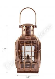 Ship Lantern - Antique Brass Chiefs Oil Lamp - 10""