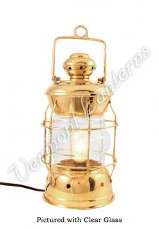 Electric Lanterns - Nautical Lanterns Brass Nelson - 13.5""