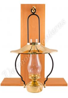 """Mansfield"" Saloon Hanging Lamp - Brass 21"" w/shade"