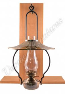 """Mansfield"" Saloon Hanging Lamp - Antique Brass 21"" w/shade"