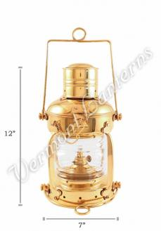 Ships Lanterns - Brass Anchor Lamp - 12""
