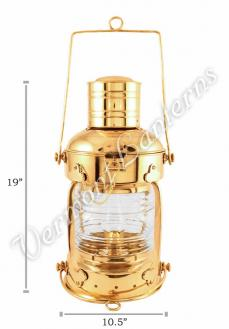 Ships Lanterns - Brass Anchor Lamp - 19""