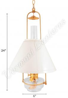 Aladdin Regency Hanging Lamp with Shade