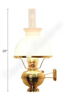 Aladdin Deluxe Brass Wall Lamp with Shade