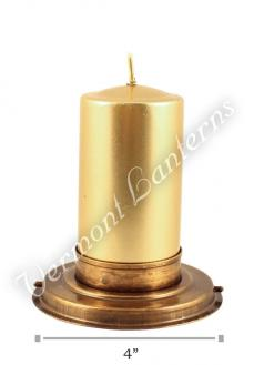 Candle Lantern Insert - Antique Brass