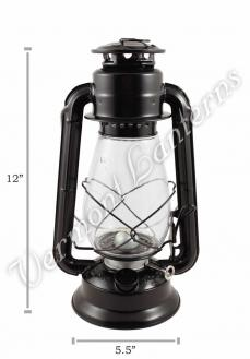 Hurricane Lantern - Galvanized Steel Black - 12""