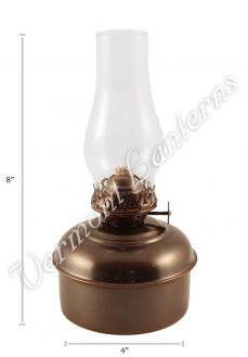 "Oil Lamps - Antique Brass ""Dorset"" Table Lamp - 8"""