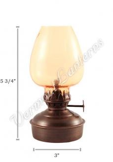 "Oil Lanterns - Antique Brass Mini - 5.75"" Amber Glass"