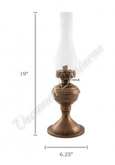 "Oil Lantern - Antique Brass ""Equinox"" Table Lamp 19"""