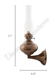 "Wall Lamps - Antique Brass ""Sterling"" 11"""