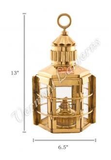 Ship Lanterns - Brass Clipper Lamp - 13""