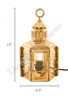 Electric Lanterns - Ship Lanterns Clipper Lamp Brass - 13""