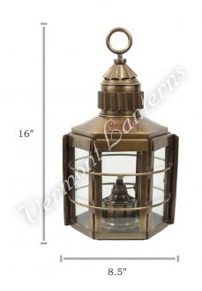 Ship Lanterns Clipper Lamp Antique Brass - 16""