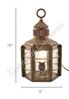 Electric Lanterns - Ship Lanterns Clipper Lamp Antique Brass - 16""