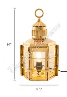 Electric Lanterns - Ship Lanterns Clipper Lamp Brass - 16""