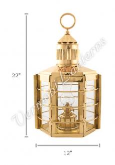 Ship Lanterns - Brass Clipper Lamp - 22""