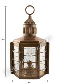 Ship Lanterns Clipper Lamp Antique Brass - 22""