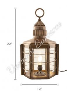 Electric Lanterns - Ship Lanterns Clipper Lamp Antique Brass - 22""