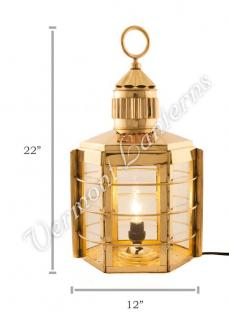 Electric Lanterns - Ship Lanterns Clipper Lamp Brass - 22""