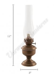 "Oil Lanterns - Antique Brass ""Pico"" Table Lamp 11"""