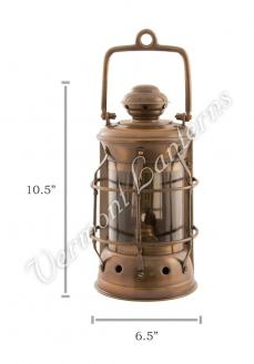 Nautical Lamps - Antique Brass Masthead Lantern - 10.5""