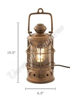 Electric Lanterns - Nautical Lamps Antique Brass Masthead Lantern - 10.5""