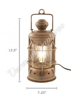 Electric Lanterns - Nautical Lamps Antique Brass Masthead Lantern - 13.5""