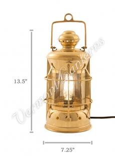Electric Lanterns - Nautical Lamps Brass Masthead Lantern - 13.5""