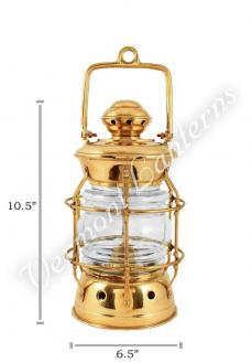 Nautical Lanterns Brass Nelson - 10.5""
