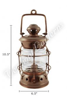 Nautical Lanterns - Antique Brass Nelson - 10.5""