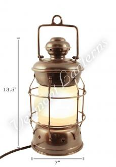 Electric Lanterns - Nautical Lanterns Antique Brass Nelson - 13.5""