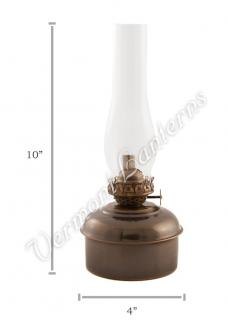 "Oil Lamps - Antique Brass ""Dorset"" Table Lamp - 10"""