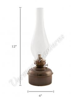 "Oil Lamps - Antique Brass ""Dorset"" Table Lamp - 12"""