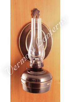"Oil Lamps - Antique Brass ""Dorset"" Wall Lamp 10"""