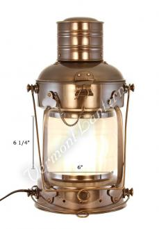 "Anchor Lamp Chimney - 19"" Frosted"