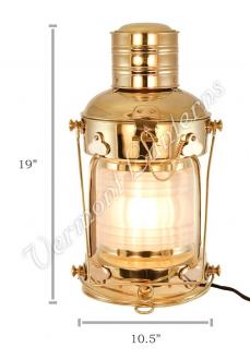 Electric Lantern - Ships Lanterns Brass Anchor Lamp - 19""