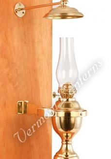 Yacht Lamp - Gimbaled Brass with Smoke Bell - 12""